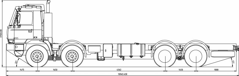 Размеры грузовика